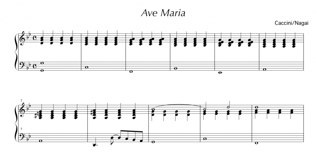 アヴェ マリア 楽譜 カッチーニ